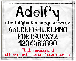 adelfy_free-version字体
